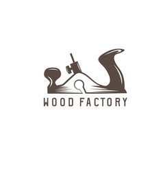 jointer simple design template wood factory vector image