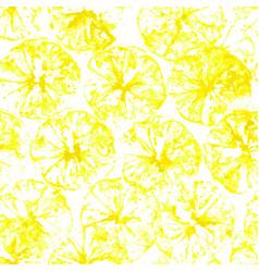 lemon stamp seamless background juice vector image