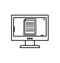 Line electronic document information inside vector