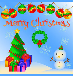 lovely christmas card vector image