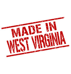 made in west virginia stamp vector image