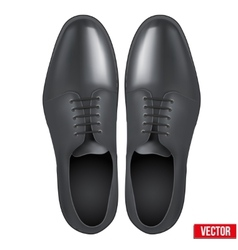 Male fashion classic black shoes vector image