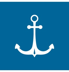 Marine Anchor Isolated on Blue vector image