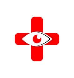 Medical logo icon eyes vector