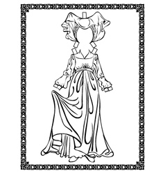 Medieval costume vector image