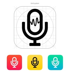 Microphone signal icon vector image