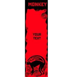 Monkey a symbol of Chinese horoscope vector image