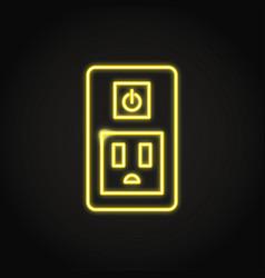 Neon smart socket icon in line style vector