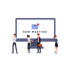 New meeting notification flat vector