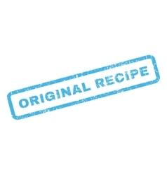 Original Recipe Rubber Stamp vector