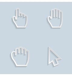 Paper Hand Cursors vector image