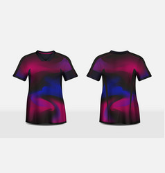 pink purple and black layout e-sport t-shirt vector image