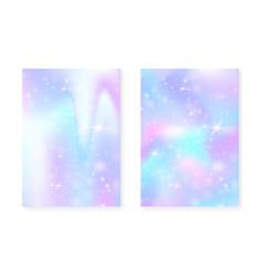 Rainbow background with kawaii princess gradient vector