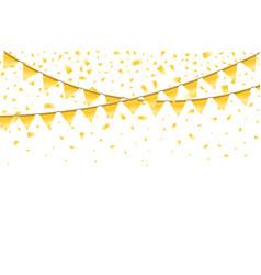 realistic bright festive elegant template vector image