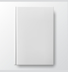 Realistic white book with a blank cover vector