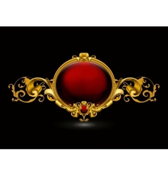 Red Vintage Frame vector image