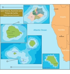 Saint Helena Ascension and Tristan da Cunha map vector