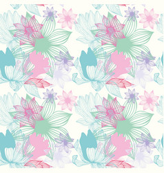 Seamless floral pattern of tender shades vector