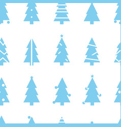 simple christmas seamless pattern with blue vector image