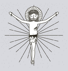 sketch sf the ascension of jesus christ vector image