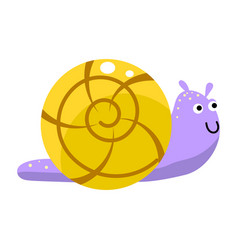 snail cute cartoon isolated vector image