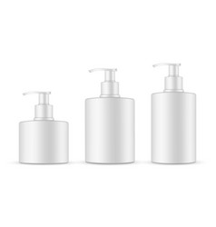 soap bottles with pump mockup isolated vector image