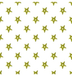 Star crossed pattern cartoon style vector