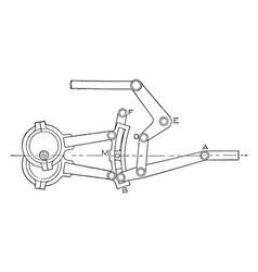 steam engine gooch link and valve gear vector image