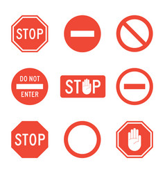 Stop signs set vector
