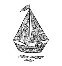 Stylized sailboat entangle vector