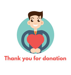 Thank you for donation vector