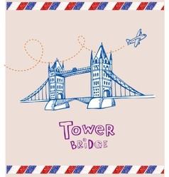 Tower bridge- symbol london vector