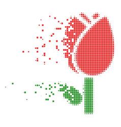 Tulip destructed pixel icon vector
