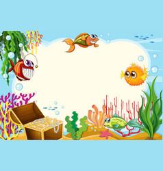 Under water template scene vector