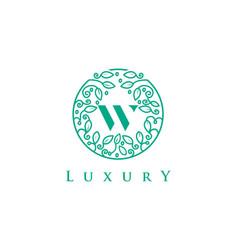 W letter logo luxurybeauty cosmetics logo vector