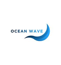wave logo design vector image