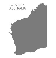 Western australia map grey vector