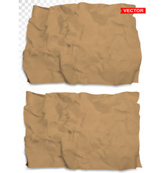 wrinkled crumpled realistic brown paper vector image