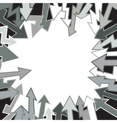 Arrows on white background vector image vector image