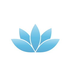 blue lotus symbol spa and wellness theme design vector image vector image