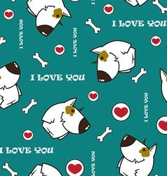 Cartoon dog pattern vector image