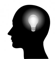 concept of a bright idea vector image vector image