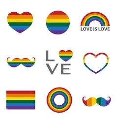 Rainbow iconlgbt support symbol vector