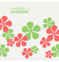 Colored flowers vector image vector image