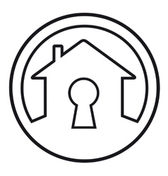 house lock concept symbol vector image vector image