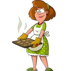 housewife vector image vector image