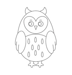 Owl for coloring book vector