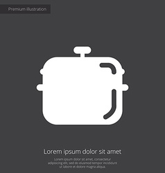pan premium icon white on dark background vector image vector image