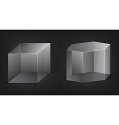 abstract 3d shapes vector image vector image