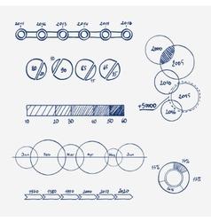 analytics business finance statistics infographics vector image vector image